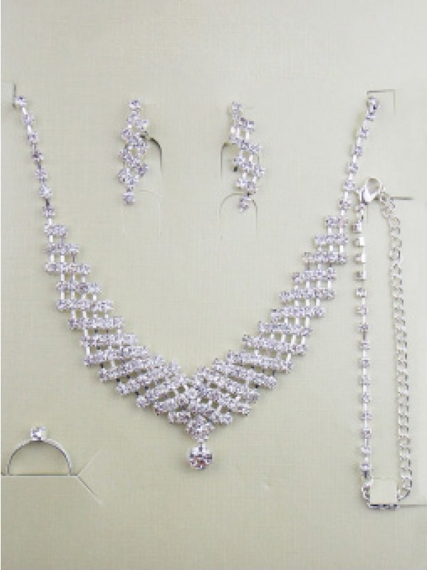 Alloy med Swarovskis Bryllup Jewelry Set